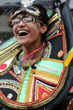 A DANCER IN THE NOTTING HILL CARNIVAL, LONDON Royalty Free Stock Image