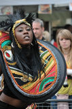 A DANCER IN THE NOTTING HILL CARNIVAL, LONDON Stock Images