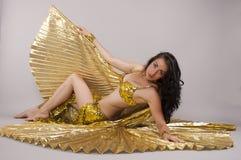 Dancer. Oriental dancer dances in costume Royalty Free Stock Photo