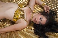 Dancer. Oriental dancer dances in costume Royalty Free Stock Photography