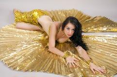 Dancer. Oriental dancer dances in costume Royalty Free Stock Images