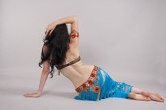Dancer. Oriental dancer dances in costume Stock Images