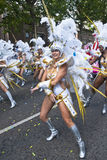Dancer from the Paraiso School of Samba float Royalty Free Stock Images