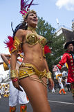 Dancer from the Paraiso School of Samba float Royalty Free Stock Photos