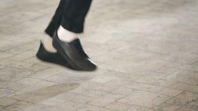 The dancer parodies Michael Jackson stock footage