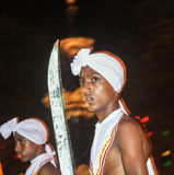 Dancer participates the festival Pera Hera in Kandy Royalty Free Stock Images
