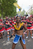 Dancer from the Peoples World float Stock Photo