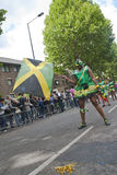 Dancer from the Peoples World float Stock Image