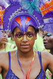 Dancer from the Peoples World float Royalty Free Stock Photography