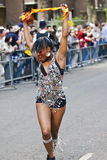 Dancer from the Phoenix Arts. Community Group at the Notting Hill Carnival on August 30, 2010 in Notting Hill, London stock photo