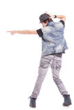 Dancer in pointing pose Royalty Free Stock Photography