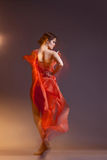 Dancer. Portrait of beautiful dancing girl Royalty Free Stock Photography