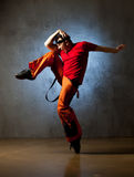 Dancer posing. Stylish and cool breakdance style dancer posing Stock Images
