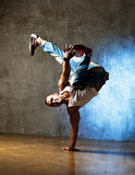 Dancer posing. Stylish and cool breakdance style dancer posing Royalty Free Stock Images