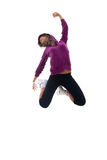 Dancer is posing in an energy jump Stock Photography