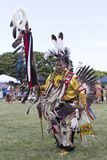Dancer Pow Wow. Event: 44th Intertribal Pow Wow Location: Magic Island, Hawai`i Subject: The Head Dancer almost has enough feathers to fly around the sacred stock photography
