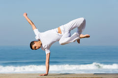 Dancer practicing handstand Royalty Free Stock Photo