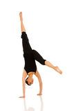 Dancer practicing handstand Stock Photos