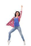 Dancer punching the air. Royalty Free Stock Photos