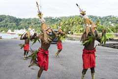 Dancer in Rabaul, Papua New Guinea Royalty Free Stock Photo