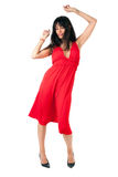 Dancer in red Royalty Free Stock Photography