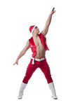 Dancer in red christmas costume Royalty Free Stock Images