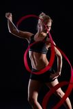 Dancer with ribbon Stock Photography