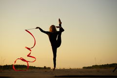 Dancer with ribbon Stock Image