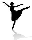 Dancer silhouette Stock Images