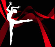 Dancer silhouette Royalty Free Stock Photo