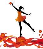 Dancer silhouette Stock Photos