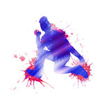 Dancer silhouette Royalty Free Stock Photography