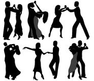 Dancer silhouettes Royalty Free Stock Image
