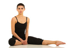 Dancer sitting studio Stock Photography