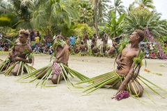 Dancer Solomon Island, South Pacific Ocean Stock Images