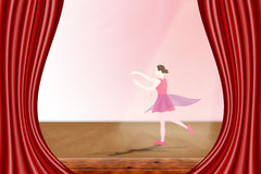 Dancer on stage Stock Photography