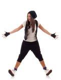Dancer standing on her heels Stock Images