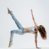 The dancer in studio Royalty Free Stock Images