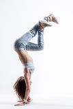 The dancer in studio Royalty Free Stock Photography