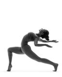 The dancer in studio Royalty Free Stock Image