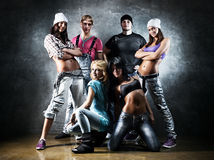 Dancer team royalty free stock photography