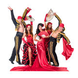 Dancer team wearing in traditional flamenco Stock Photography