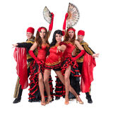 Dancer team wearing in traditional flamenco Stock Image