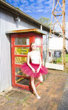 Dancer And Telephone Box Stock Image