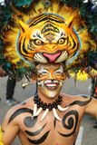 Masked dancer in a fiesta in a Colombian fiesta Royalty Free Stock Photography