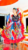 Dancer with traditional dress at in Ho Chi Ming, Vietnam, Royalty Free Stock Image