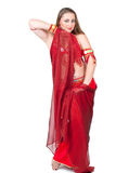 Dancer in traditional red dress Stock Images