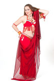Dancer in traditional red dress Royalty Free Stock Image