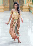 Dancer of the traditional Thai style Royalty Free Stock Photos