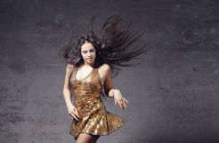 Dancer in the trashy room Royalty Free Stock Photography